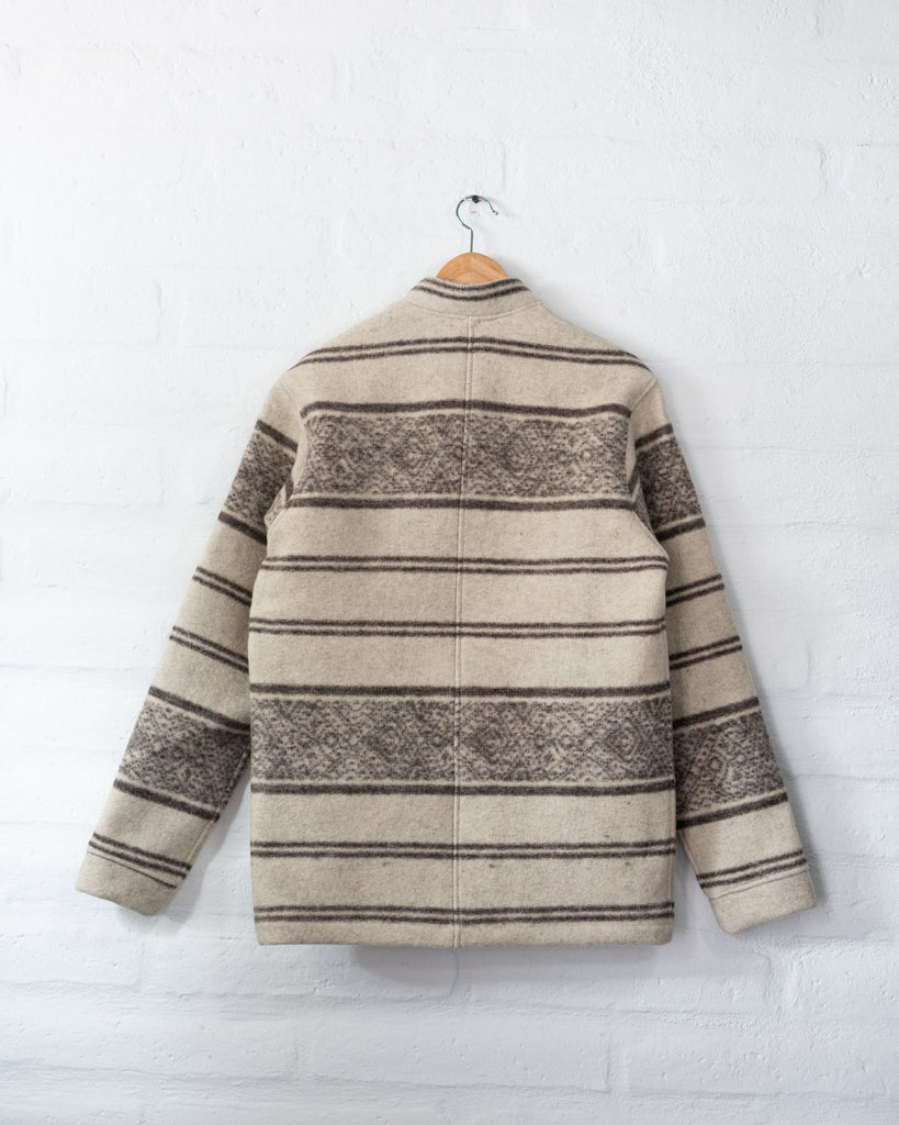 Tambo Wool Jacket Andes Pattern - White -  - MODE Revolution -Sustainable Fashion