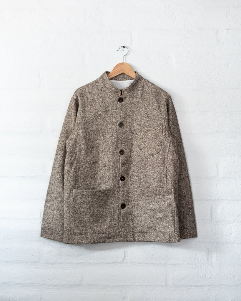 Tambo Wool Jacket -  Brown -  - MODE Revolution -Sustainable Fashion