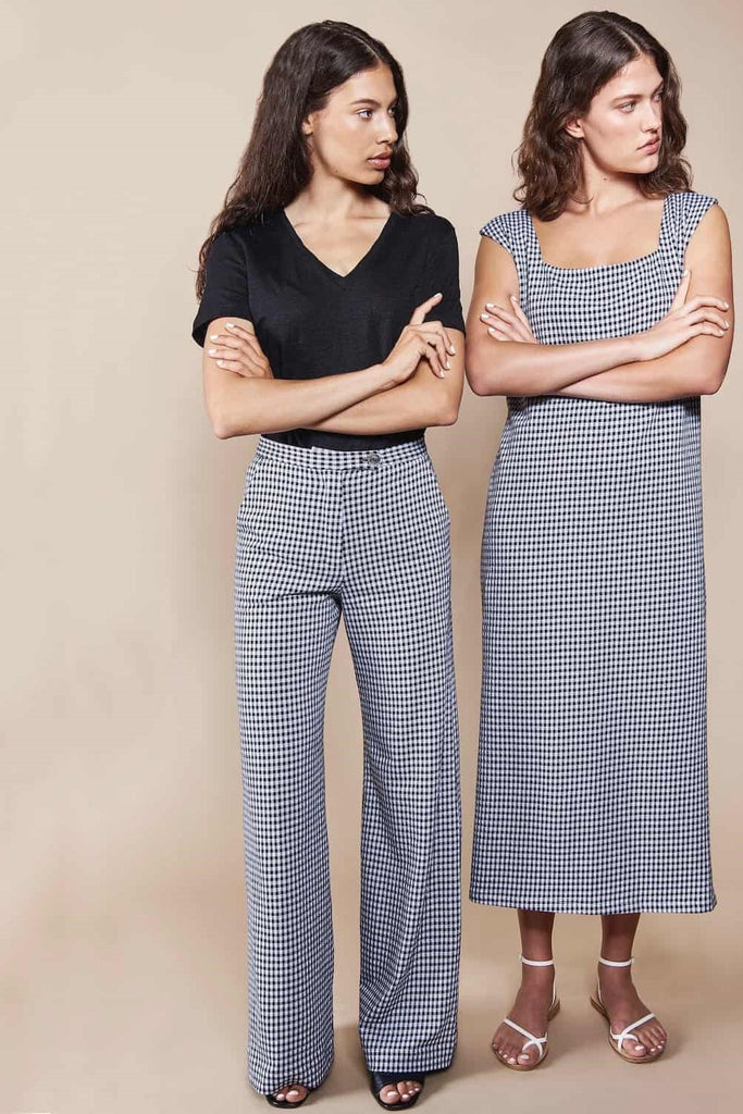 Wide Pants Tonala Check Black White -  - MODE Revolution -Sustainable Fashion