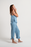 Ruffle Pant Set - Sky - Pant Set - MODE Revolution -Sustainable Fashion