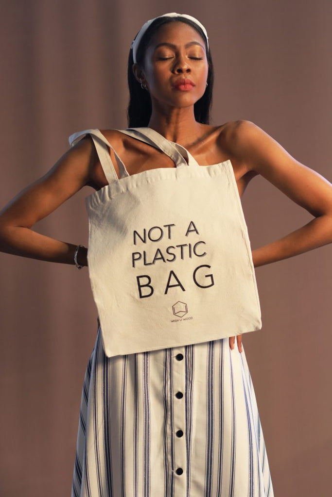 """Not A Plastic Bag"" 100% Cotton -  - MODE Revolution -Sustainable Fashion"