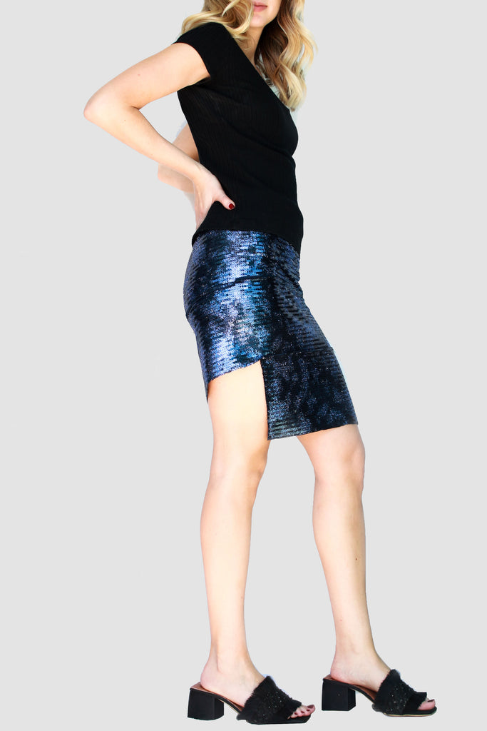 Twist skirt - Sequins -  - MODE Revolution -Sustainable Fashion