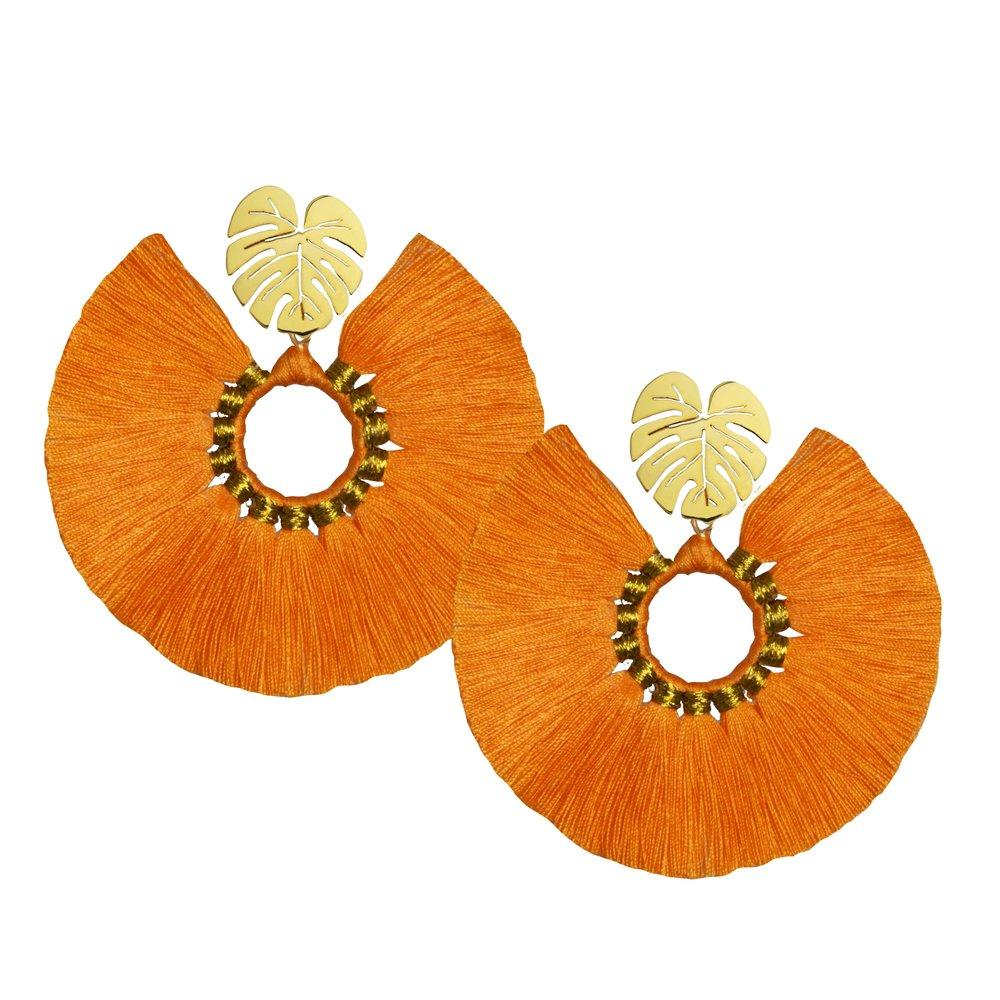 Orange Wild Flower Earrings - Earrings - MODE Revolution -Sustainable Fashion