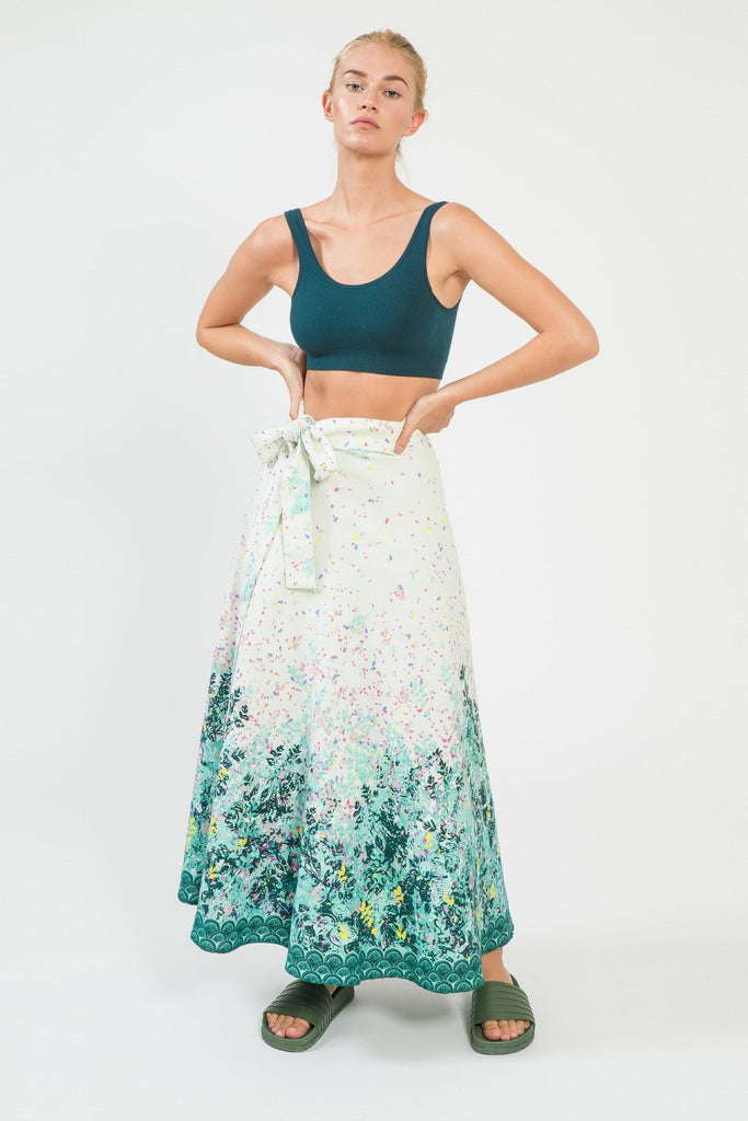Le Jardin Wrap Maxi Skirt - Wrap Maxi Skirts - MODE Revolution -Sustainable Fashion