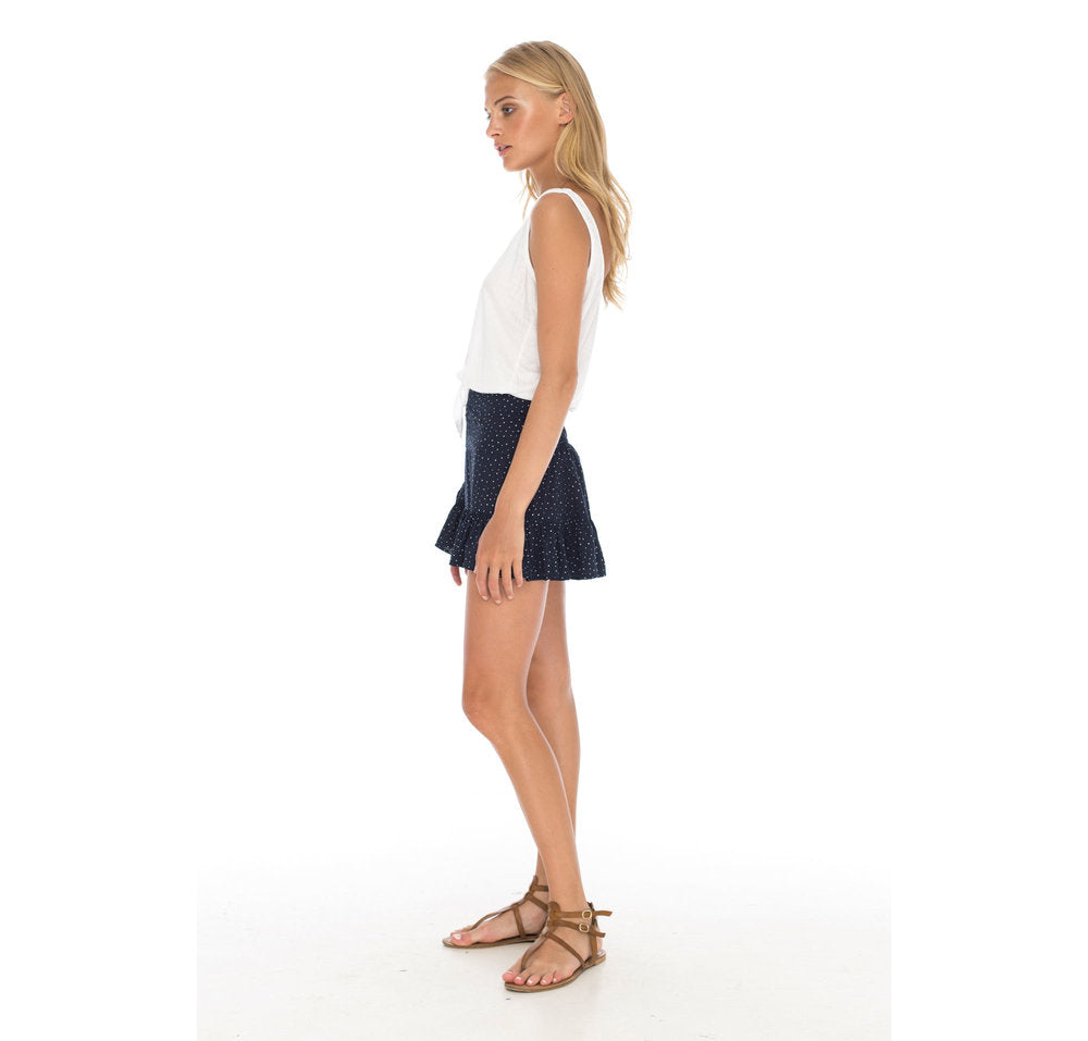 Mini Skirt Navy Dots -  - MODE Revolution -Sustainable Fashion