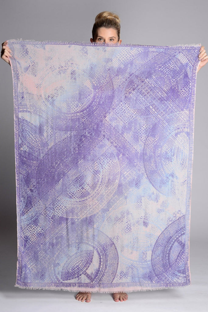 Diablo Indigo Blush Scarf - Sarong - MODE Revolution -Sustainable Fashion