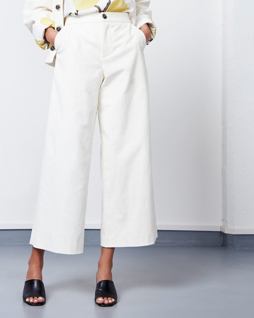 Pants Como Corduroy White -  - MODE Revolution -Sustainable Fashion