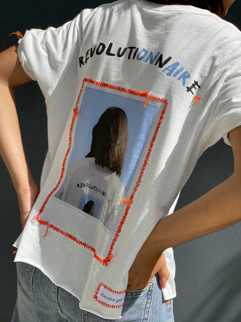 A Revolutionnaire's T-Shirt (Bright Coral) -  - MODE Revolution -Sustainable Fashion