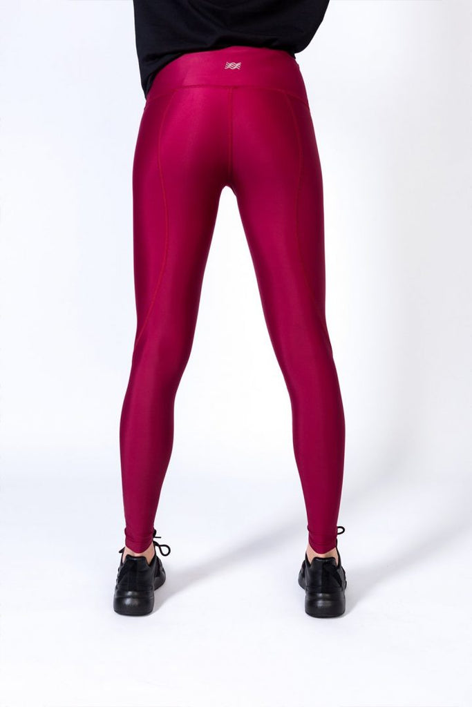 Noor Ruby - unicolor legging -  - MODE Revolution -Sustainable Fashion