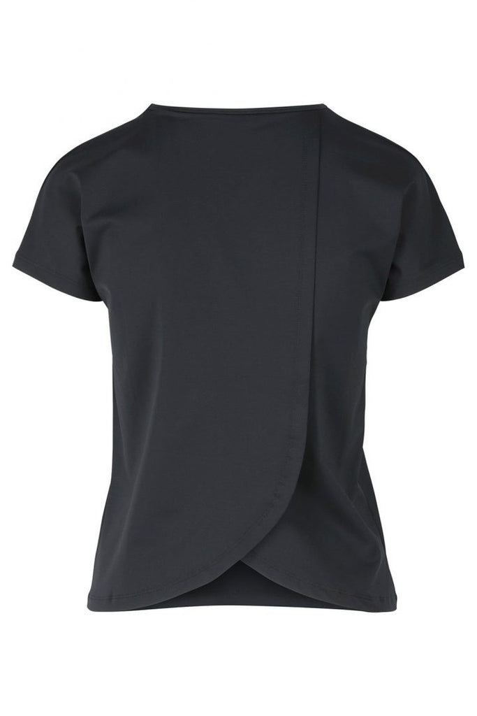 Susan Black - T-shirt with open back -  - MODE Revolution -Sustainable Fashion