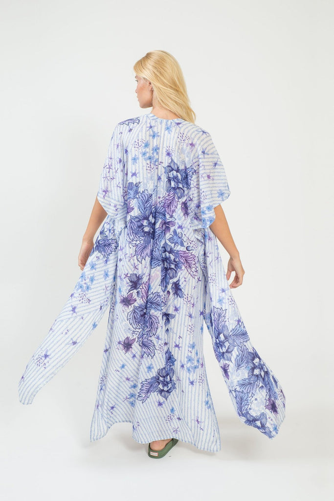 Purple Queen Long Kimono - Kimono - MODE Revolution -Sustainable Fashion