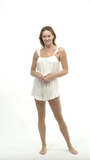 Ruffle Romper - Cloud - Romper - MODE Revolution -Sustainable Fashion