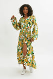 Margarita Puff Sleeve Dress -  - MODE Revolution -Sustainable Fashion