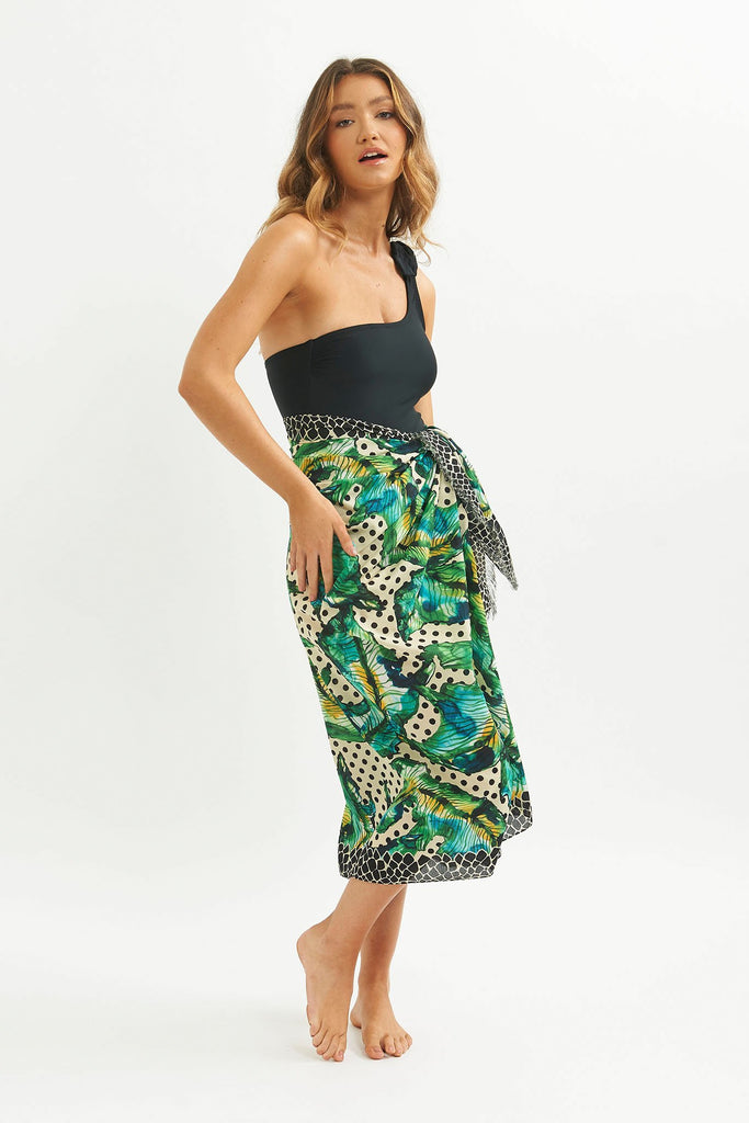Polka Fringed Sarong Scarf -  - MODE Revolution -Sustainable Fashion