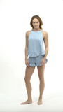 Ruffle Short Set - Sky - Short Set - MODE Revolution -Sustainable Fashion