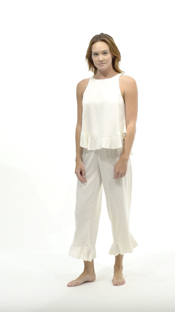 Ruffle Pant Set - Cloud - Pant Set - MODE Revolution -Sustainable Fashion
