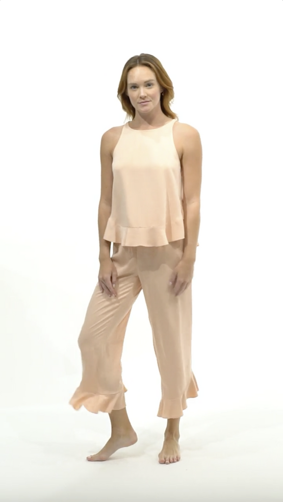 Ruffle Pant Set - Sunrise - Pant Set - MODE Revolution -Sustainable Fashion