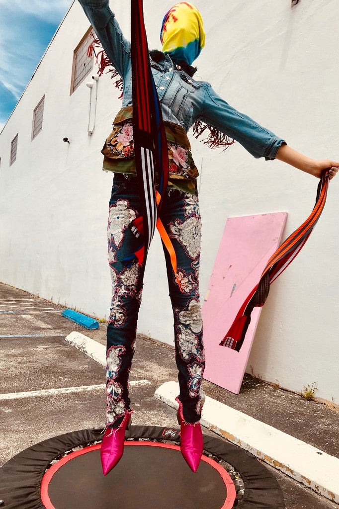 Blue Hawaiian Jeans -  - MODE Revolution -Sustainable Fashion