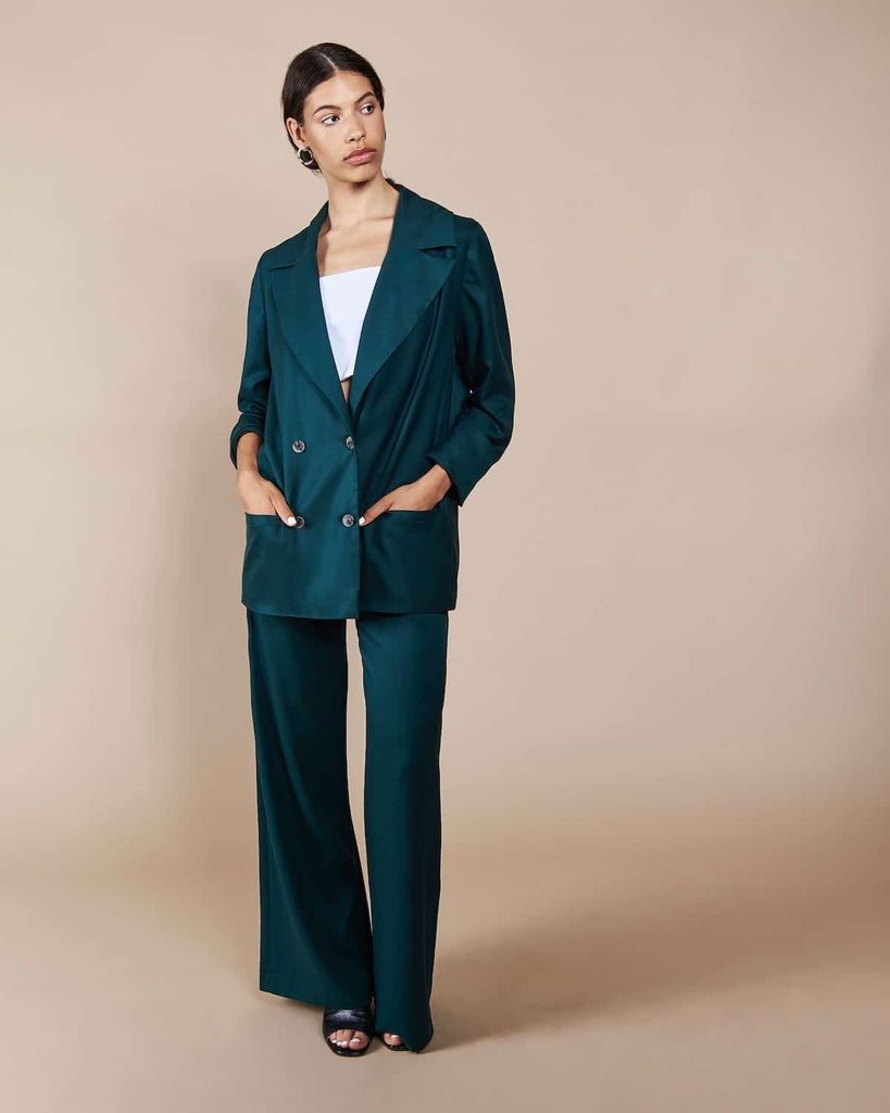Wide Pants Arouca Smaragd -  - MODE Revolution -Sustainable Fashion