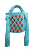 Aqua Mushroom Mini Bag - Handbag - MODE Revolution -Sustainable Fashion