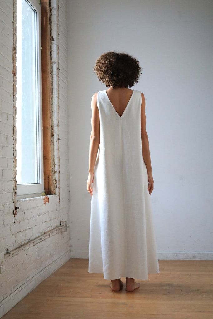 Circle Dress, Irish Linen - dress - MODE Revolution -Sustainable Fashion