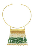 Green Waterfall Necklace - Necklace - MODE Revolution -Sustainable Fashion