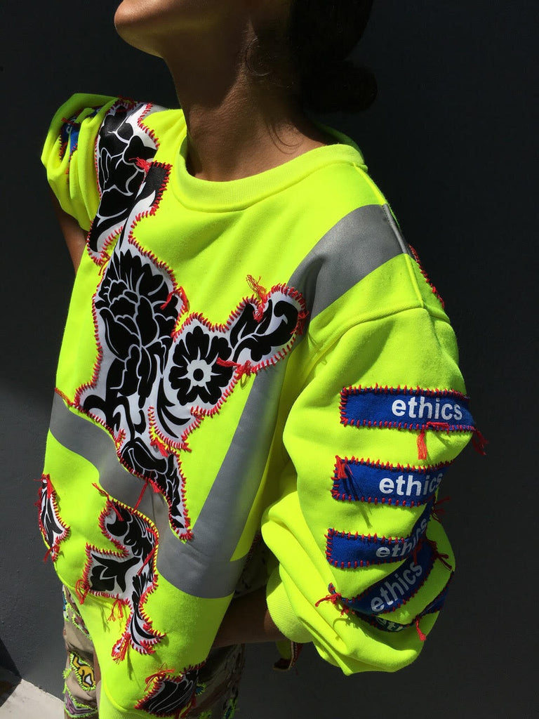 Ethics Neon Sweatshirt -  - MODE Revolution -Sustainable Fashion