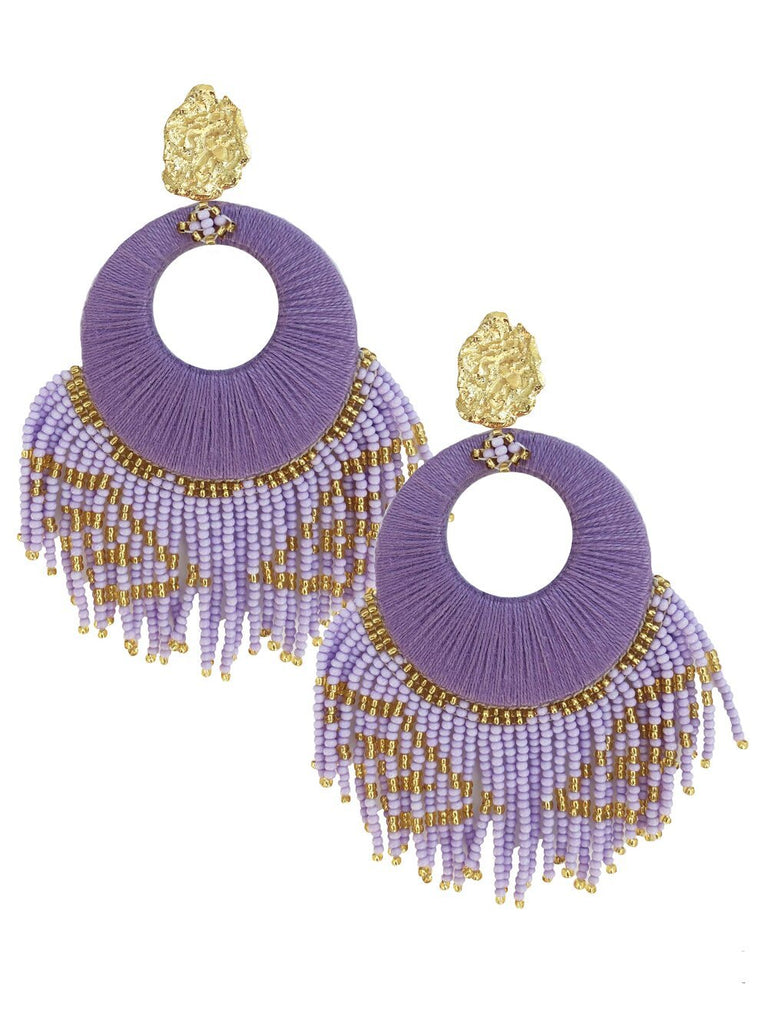 Lilac Sunshine Earrings - Earrings - MODE Revolution -Sustainable Fashion