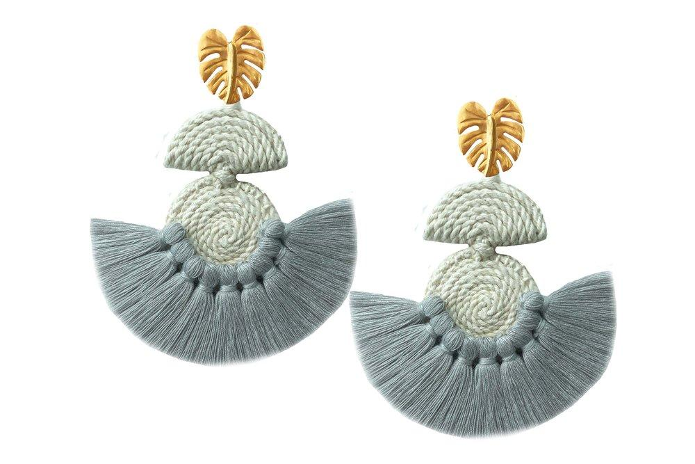 Grey Salsa Dancer Earrings - Earrings - MODE Revolution -Sustainable Fashion