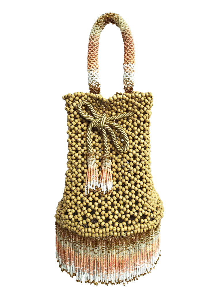 Peach Waterfall Handbag - Handbag - MODE Revolution -Sustainable Fashion