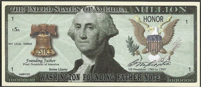 3.8. (25) George Washington founding father collectors bill