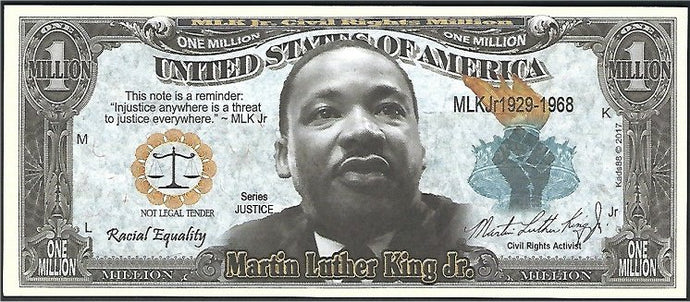 3.9. (10) Martin Luther King Jr collectors bill