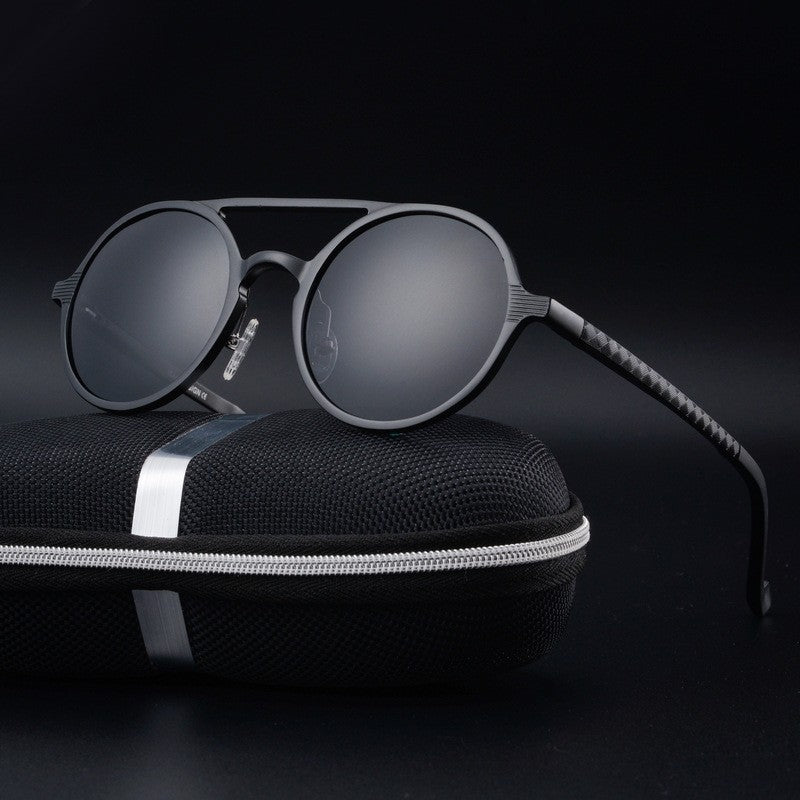 Bruno Dunn | Retro Aluminum Sunglasses | Black - Tienda Coconut