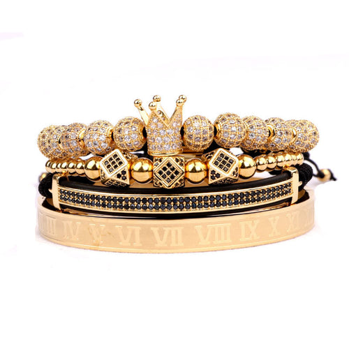 Royalty Collection | Luxury Bead Bracelet for Men | Gold - Tienda Coconut