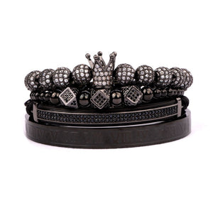 Royalty Collection | Luxury Bead Bracelet for Men | Black - Tienda Coconut