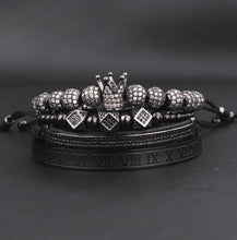 Load image into Gallery viewer, Royalty Collection | Luxury Bead Bracelet for Men | Black - Tienda Coconut