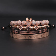 Load image into Gallery viewer, Royalty Collection | Luxury Bead Bracelet for Men | Rose Gold - Tienda Coconut