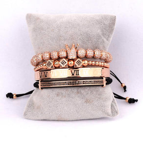 Royalty Collection | Luxury Bead Bracelet for Men | Rose Gold - Tienda Coconut