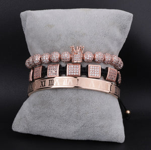Royalty Diamond Collection | Luxury Bead Bracelet | Rose Gold - Tienda Coconut