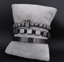 Load image into Gallery viewer, Royalty Diamond Collection | Luxury Bead Bracelet | Black - Tienda Coconut