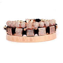 Load image into Gallery viewer, Royalty Diamond Collection | Luxury Bead Bracelet | Rose Gold - Tienda Coconut