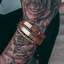 Load image into Gallery viewer, Roman Collection | Luxury Bead Bracelet for Men | Rose Gold - Tienda Coconut