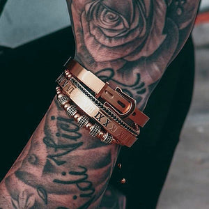 Roman Collection | Luxury Bead Bracelet for Men | Rose Gold - Tienda Coconut
