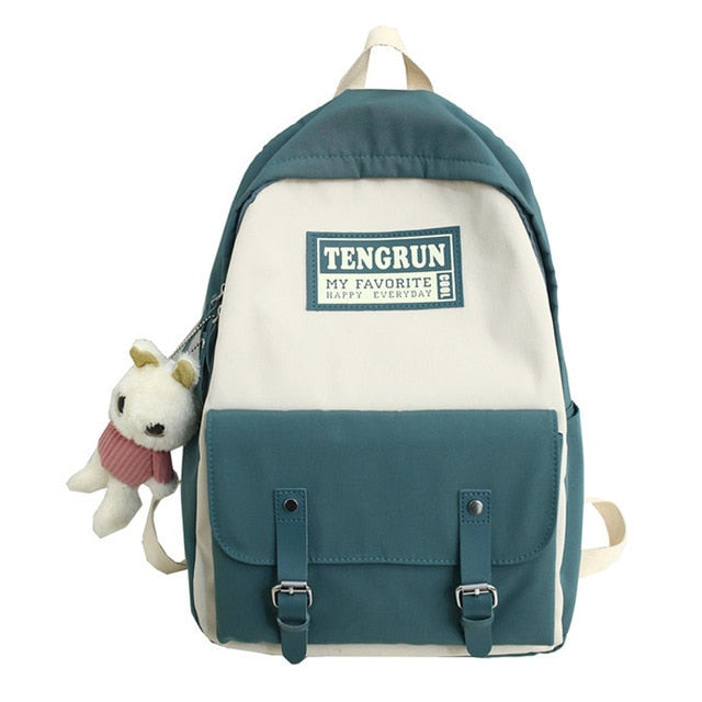 Women Backpack For College Light Blue Colour - Tienda Coconut