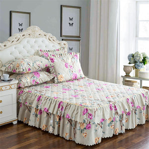 Bedspread Queen Bed Skirt Thickened Sheet