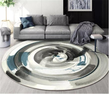 Load image into Gallery viewer, Nordic Geometric Round Carpets