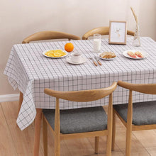 Load image into Gallery viewer, 1 Pcs Plaid Table Cloth Waterproof Oil-proof