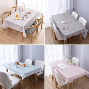 1 Pcs Plaid Table Cloth Waterproof Oil-proof