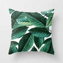 Load image into Gallery viewer, Green Leaves Pillow Case  Square Dec