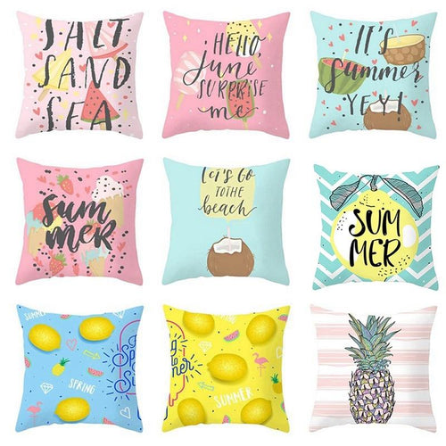 Fruit Cushion Pillowcase Cover Coconut